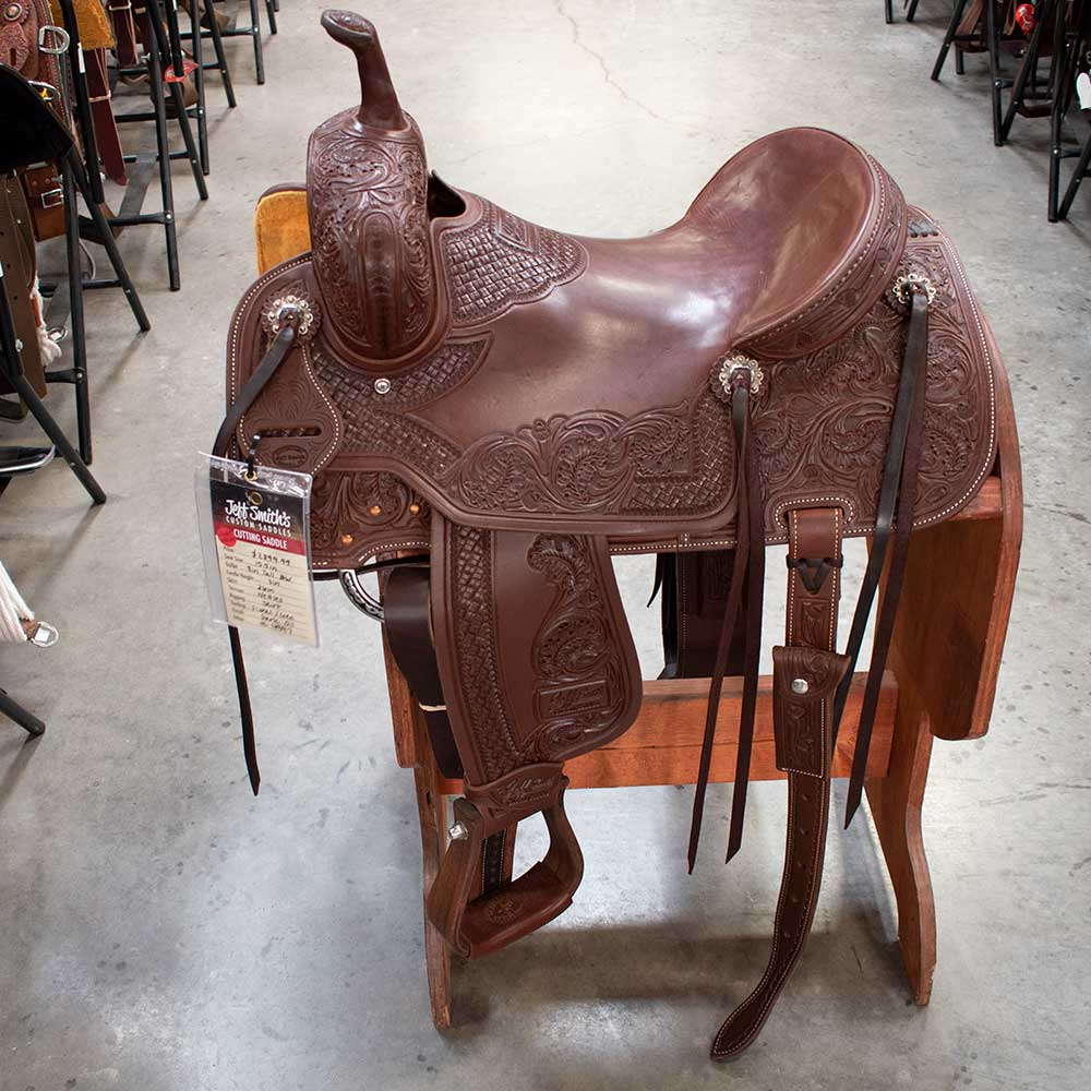 "15.5"" JEFF SMITH LIGHT WEIGHT CUTTING SADDLE"