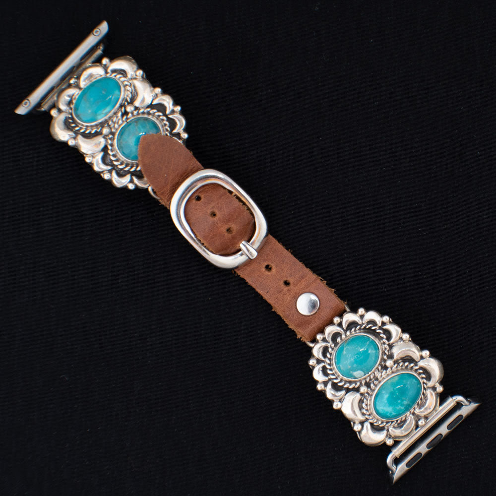 38mm Turquoise Stone Apple Watch Bands WOMEN - Accessories - Jewelry - Watches & Watch Bands WILD HORSE WATCHIN' BANDS Teskeys