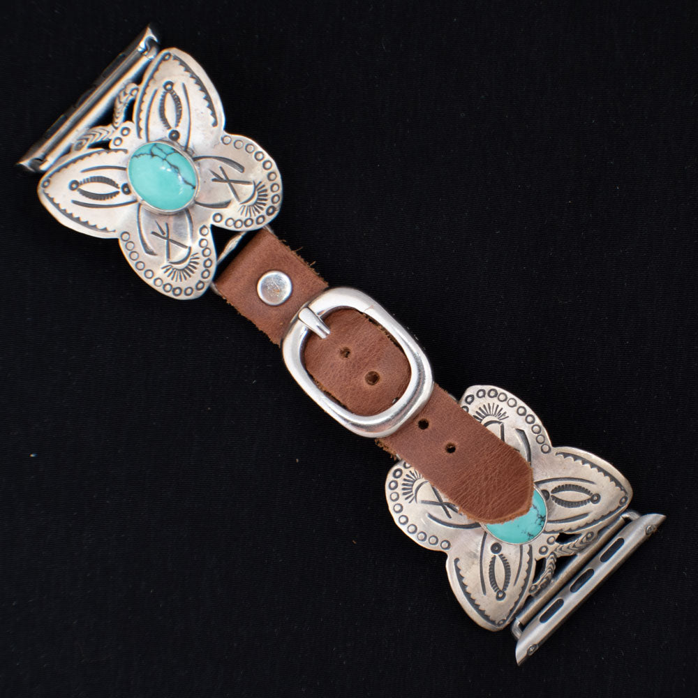 42mm Butterfly Apple Watch Band with Turquoise WOMEN - Accessories - Jewelry - Watches & Watch Bands WILD HORSE WATCHIN' BANDS Teskeys