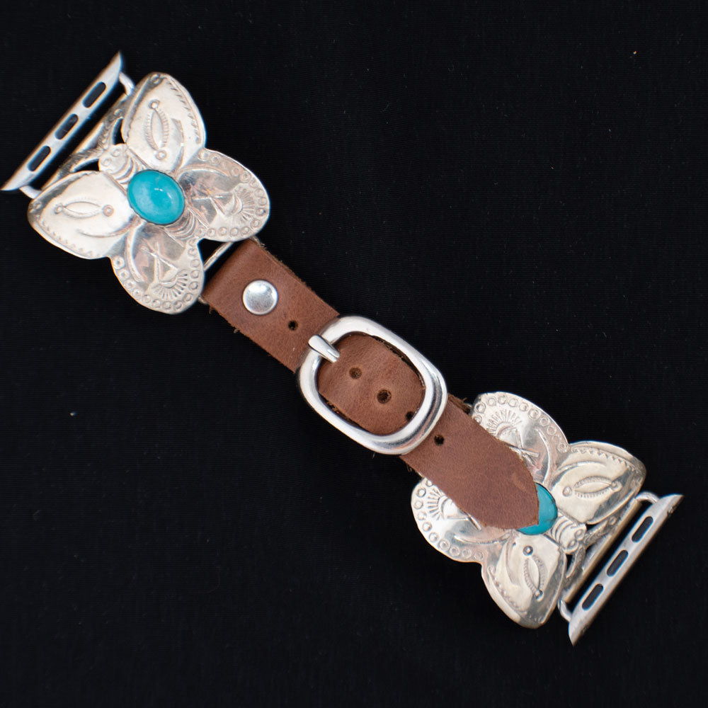 38mm Butterfly Apple Watchband with Turquoise Stone WOMEN - Accessories - Jewelry - Watches & Watch Bands WILD HORSE WATCHIN' BANDS Teskeys
