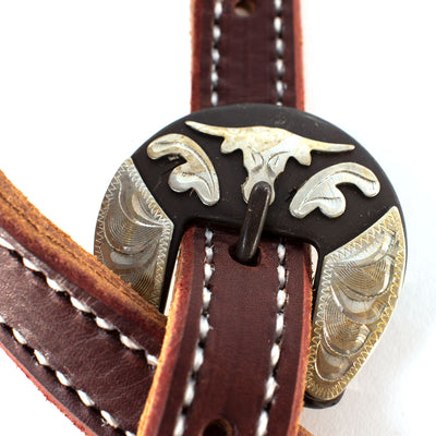 Patrick Smith Two Tone Split Ear Headstall With Steer Buckles Tack - Headstalls - One Ear Patrick Smith Teskeys