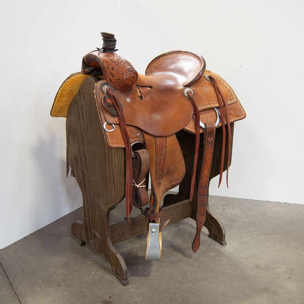 "15"" USED TRENT WARD SEAT RIG RANCH SADDLE"