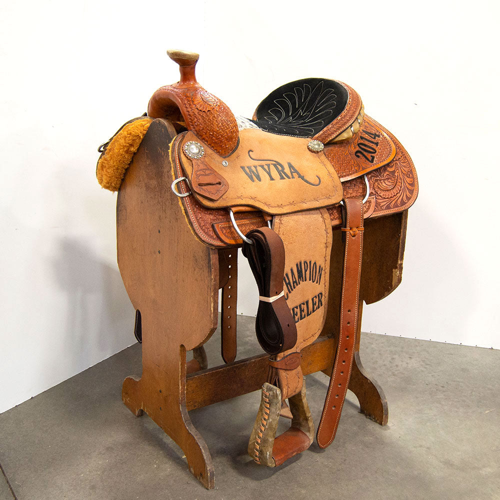 "14"" USED COWBOY COLLECTION ROPING SADDLE Saddles - Used Saddles - ROPER Cowboy Collection Teskeys"
