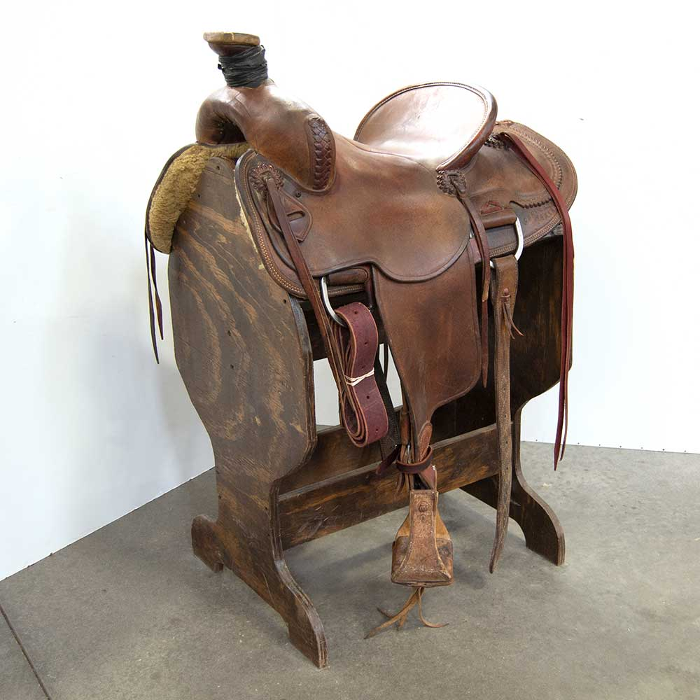 "14.5"" USED RANCH SADDLE Saddles - Used Saddles - RANCH SHOPMADE Teskeys"