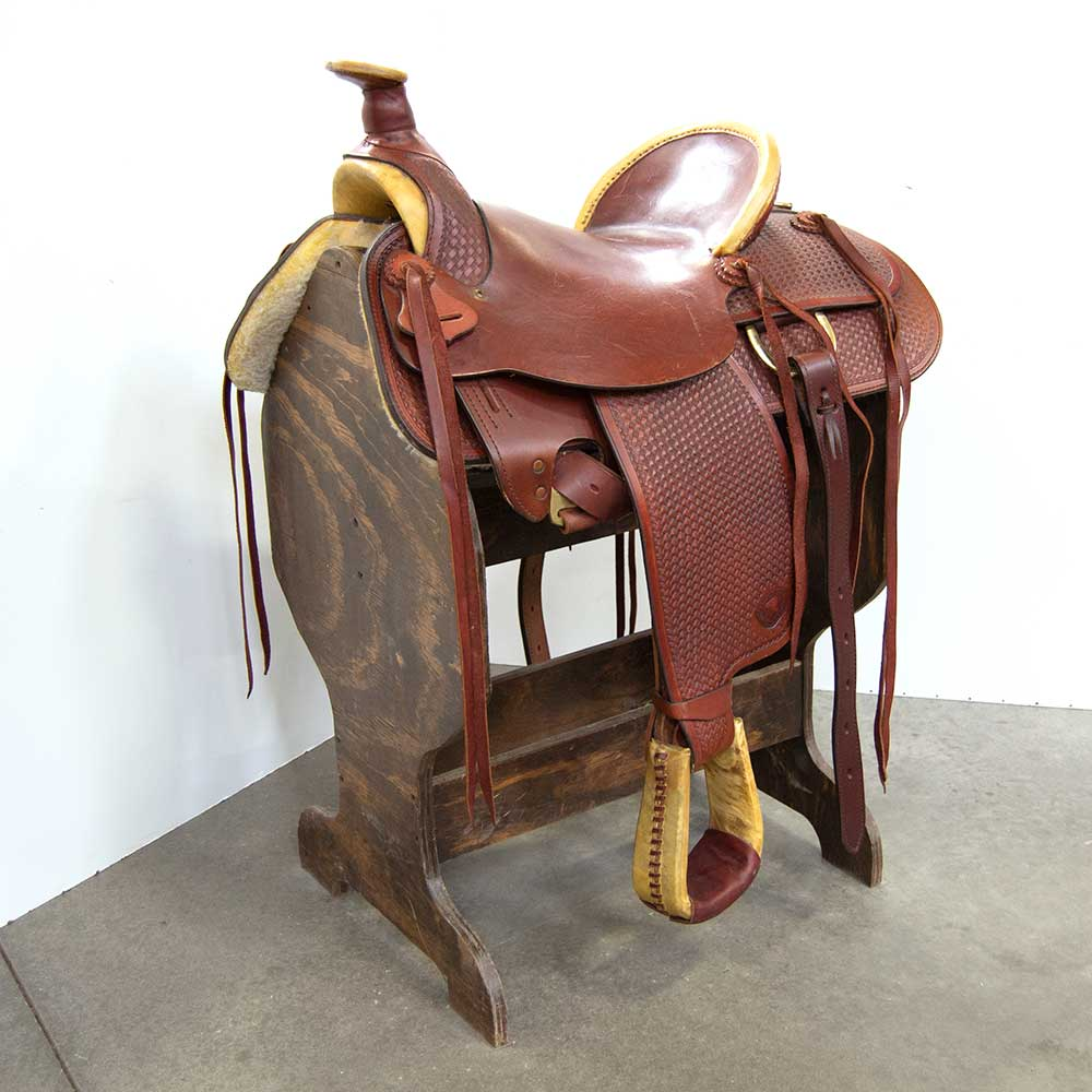 "15.5"" USED HEREFORD BRAND RANCH SADDLE Saddles - Used Saddles - RANCH HEREFORD Teskeys"