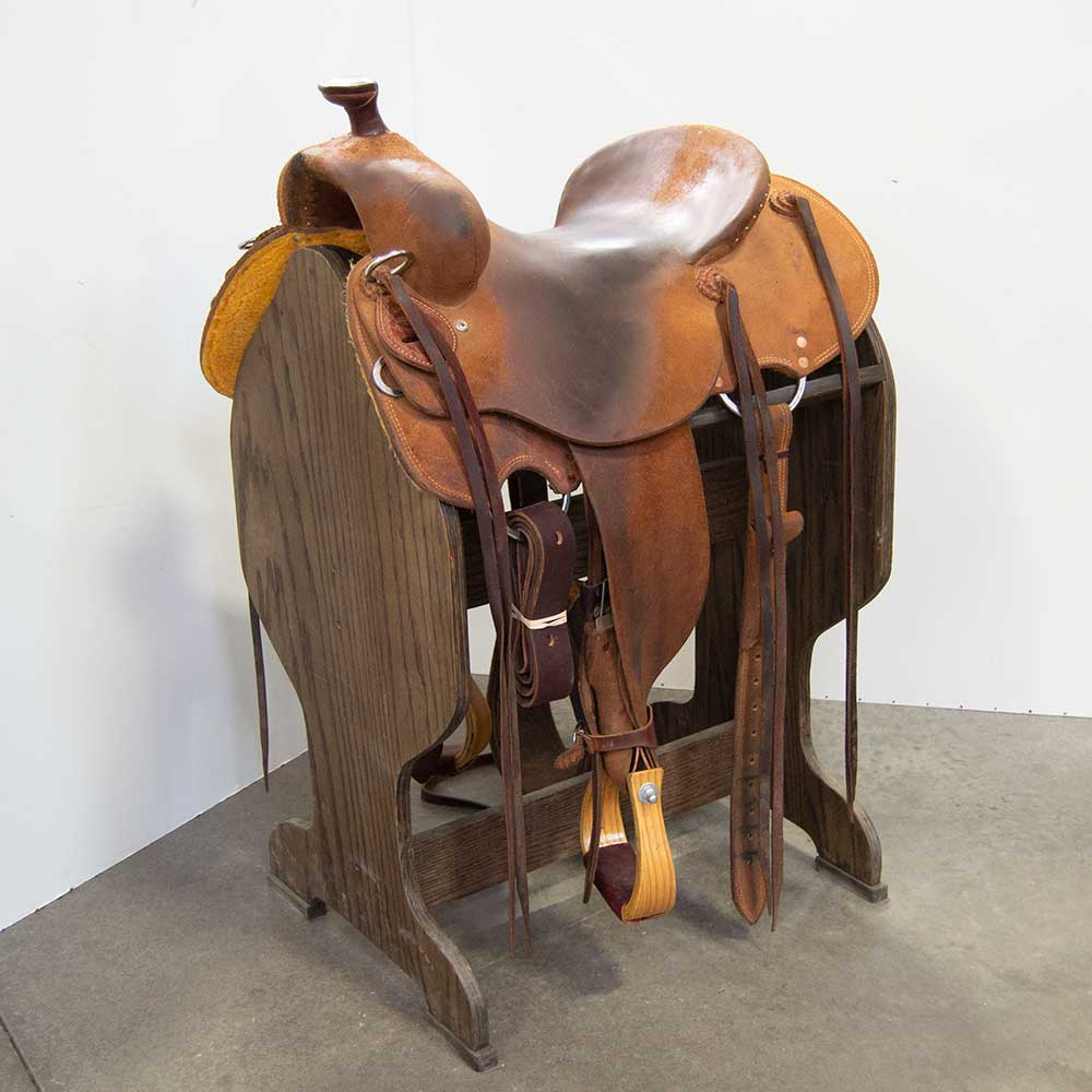 "15"" USED TESKEY'S RANCH SADDLE Saddles - Used Saddles - RANCH Teskey's Teskeys"
