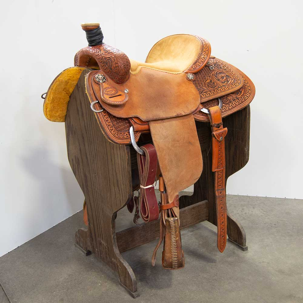 "14.5"" USED TESKEY'S ROPING SADDLE Saddles - Used Saddles - ROPER Teskey's Teskeys"