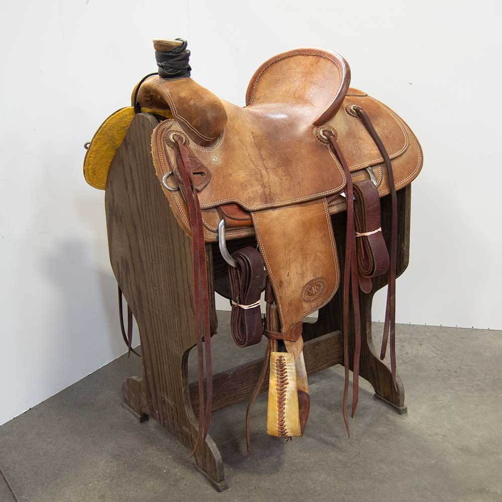 "14.5"" USED NRS RANCH SADDLE Saddles - Used Saddles - RANCH NRS Teskeys"