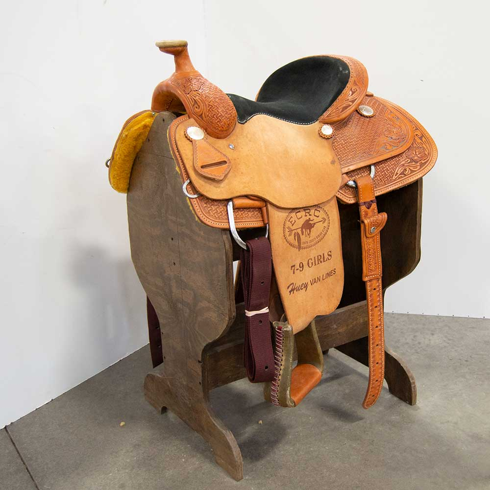 "13.5"" USED TESKEY'S COMPETITION SERIES RANCH SADDLE"