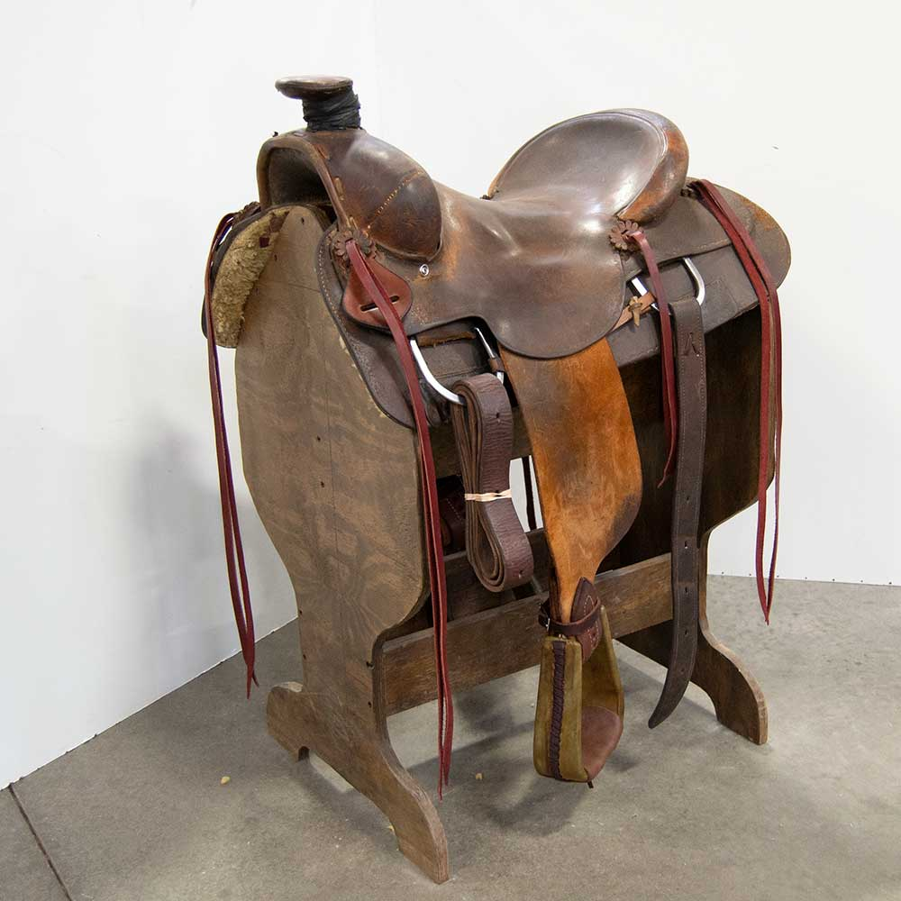 "15.5"" USED TERRY BRENNER RANCH SADDLE Saddles - Used Saddles - RANCH Terry Brenner Teskeys"