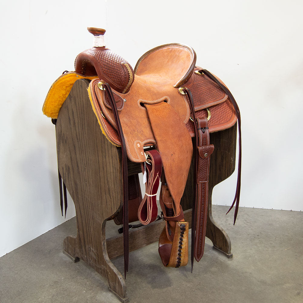 "14"" TESKEY'S SEAT RIG RANCH ASSOCIATION SADDLE"