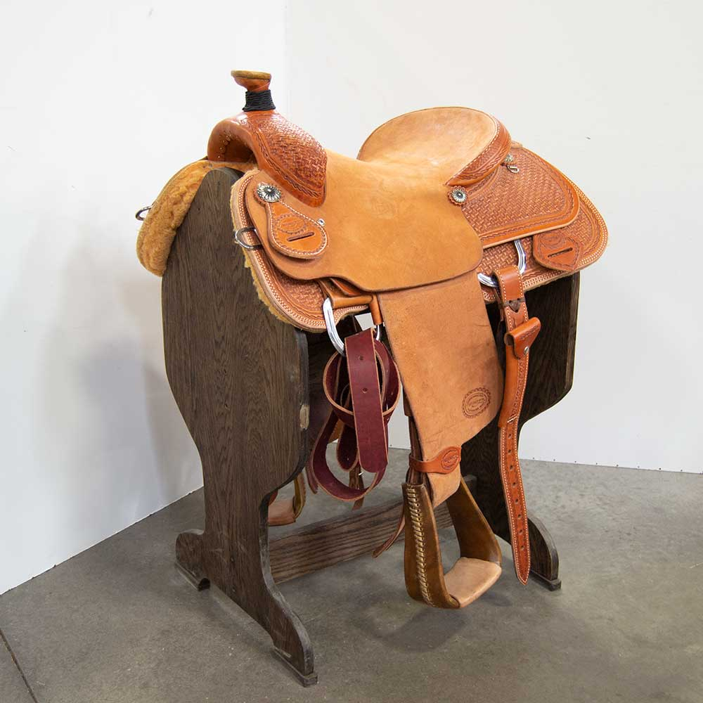 "15"" TESKEY'S ROPING SADDLE Saddles - New Saddles - ROPER Teskey's Teskeys"