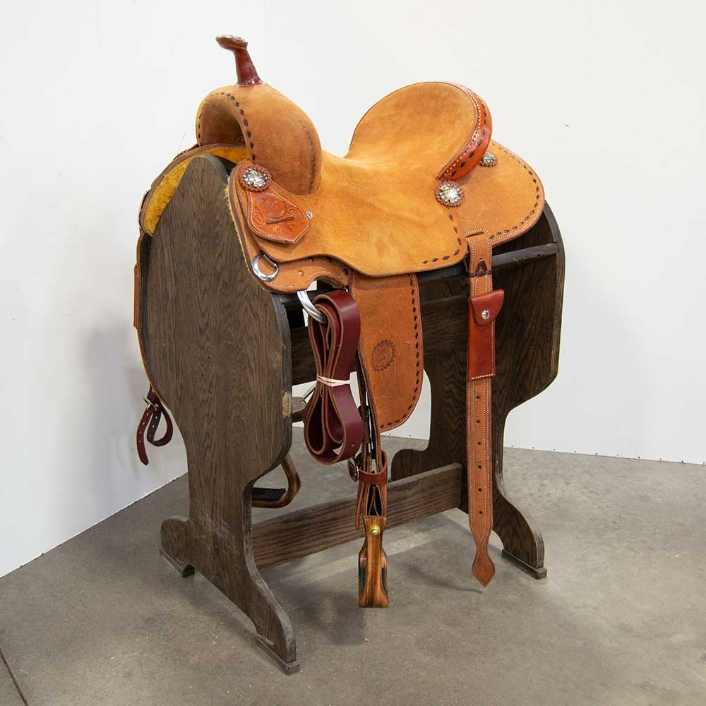 "14"" JEFF SMITH BARREL SADDLE Saddles - New Saddles - BARREL Jeff Smith Teskeys"
