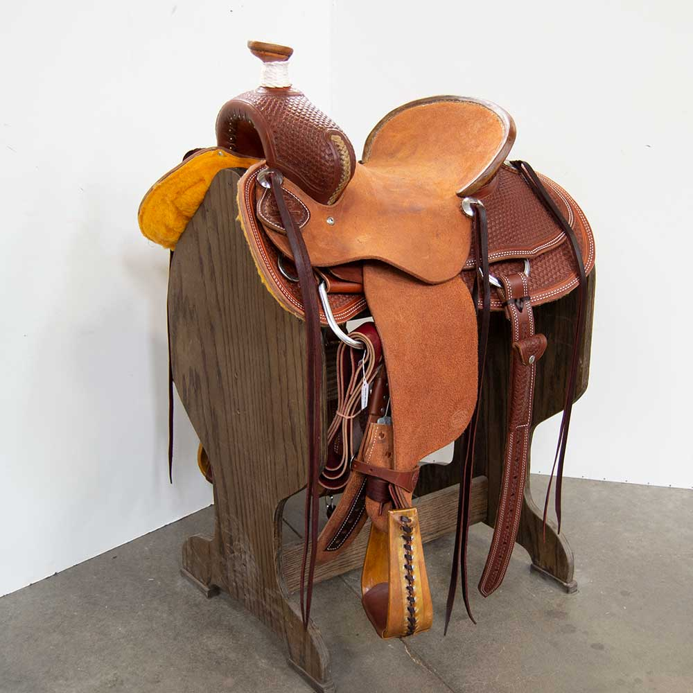 "14"" TESKEY'S RANCH ASSOCIATION SADDLE Saddles - New Saddles - RANCH Teskey's Teskeys"