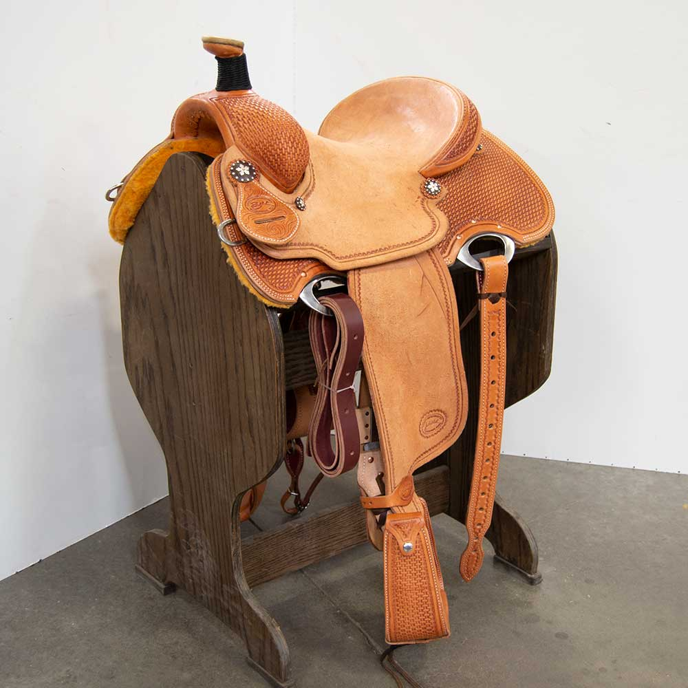 "14"" PATRICK SMITH ROPING SADDLE Saddles - New Saddles - ROPER Teskey's Teskeys"
