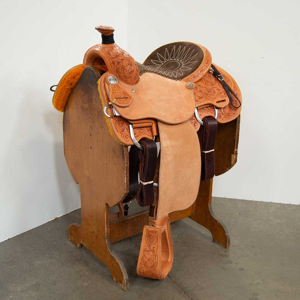 "14"" MARTIN SADDLERY 63 JOE BEAVER CALF ROPING SADDLE Saddles - New Saddles - ROPER Martin Saddlery Teskeys"