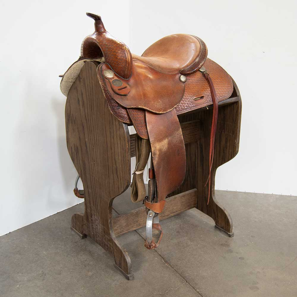 "14.5"" USED BILLY COOK BARREL SADDLE"