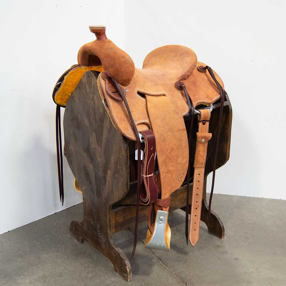 "14"" TESKEY'S STRIP DOWN RANCH SADDLE"