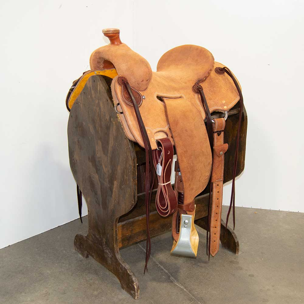 "13.5"" TESKEY'S STRIP DOWN RANCH SADDLE"