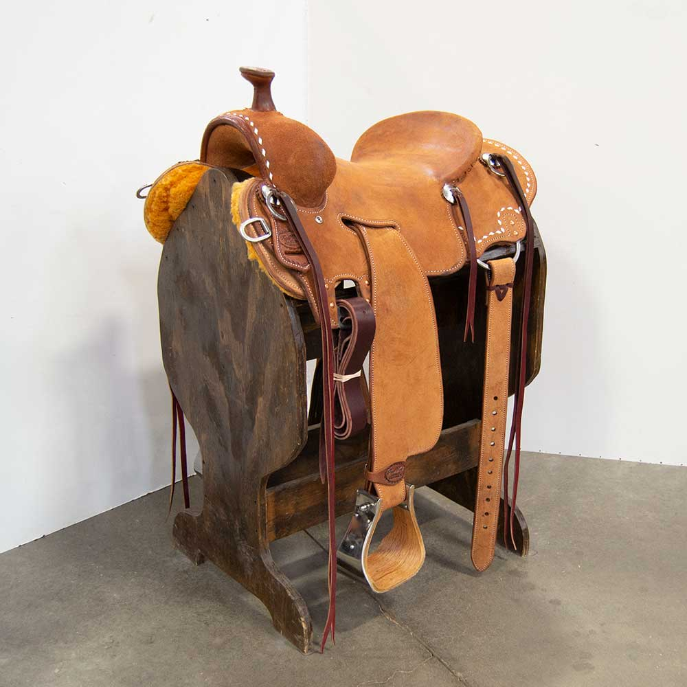 "15"" TRENT WARD SEAT RIG RANCH SADDLE"