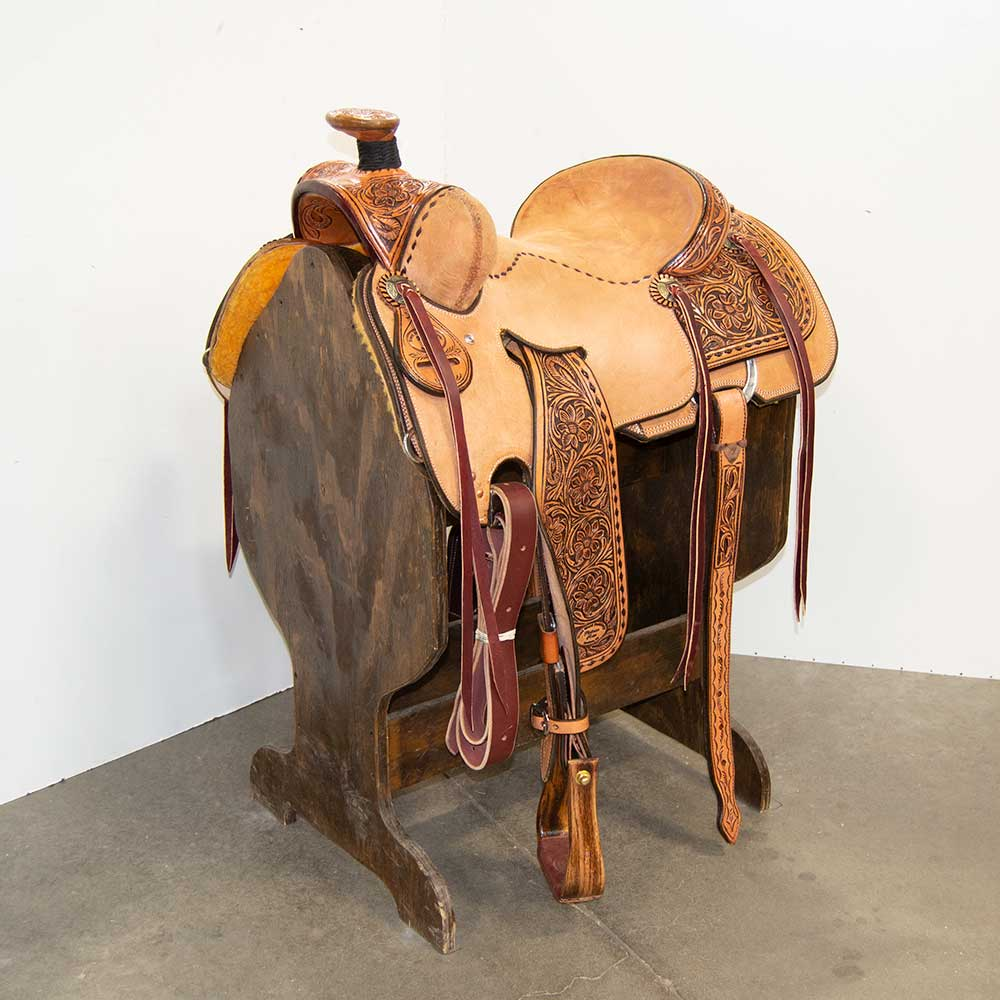 "15.5"" TRENT WARD SEAT RIG RANCH SADDLE"