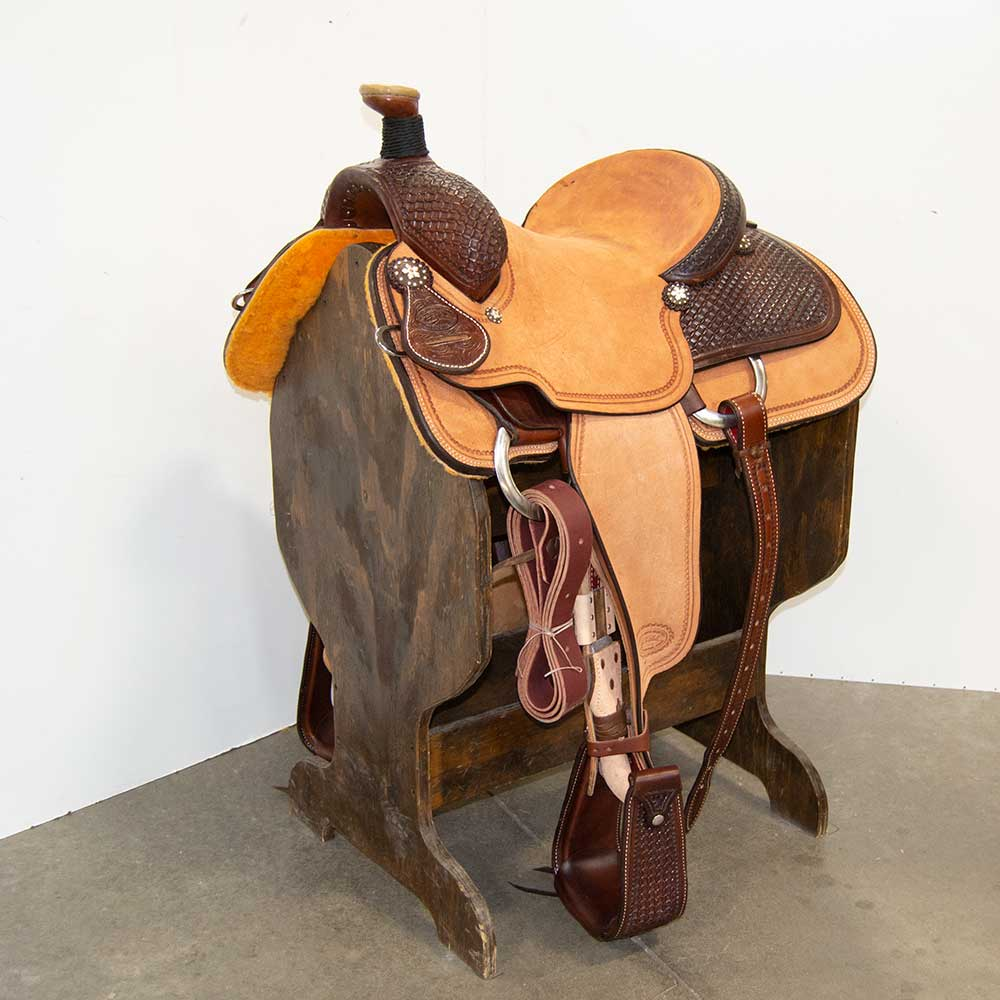 "13.5"" PATRICK SMITH ROPING SADDLE"