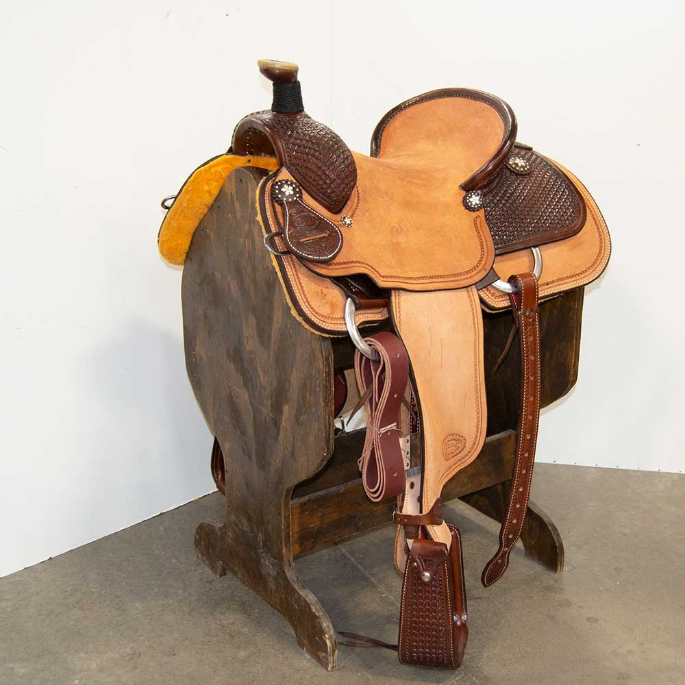 "14"" PATRICK SMITH ROPING SADDLE"