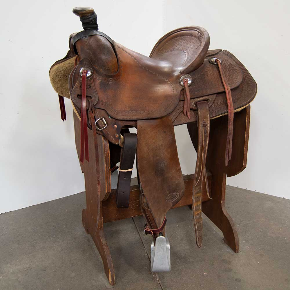 "14.5"" USED R.D. GILHAM RANCH SADDLE"