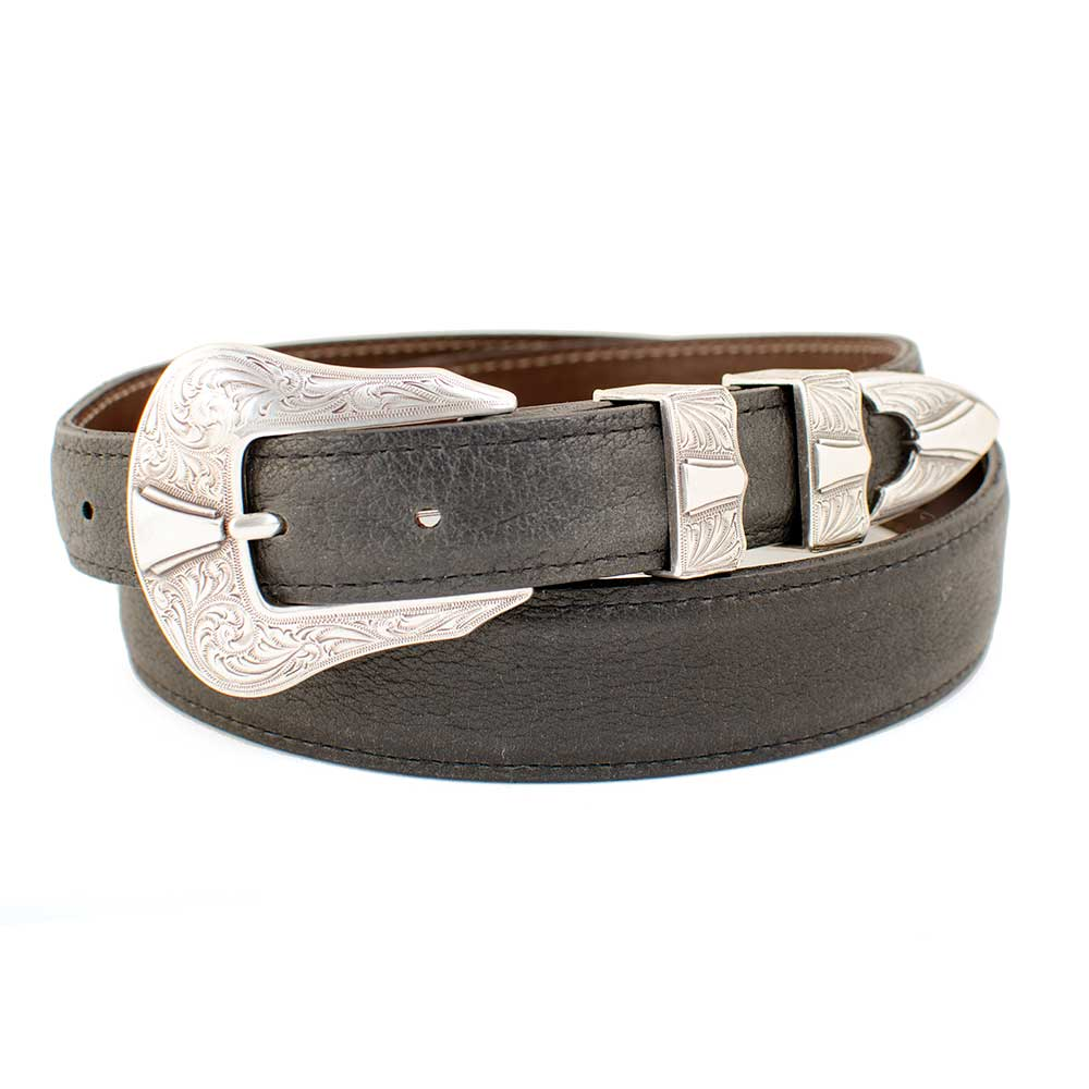 "1 1/4"" American Bison Leather Belt MEN - Accessories - Belts & Suspenders CHACON LEATHER Teskeys"