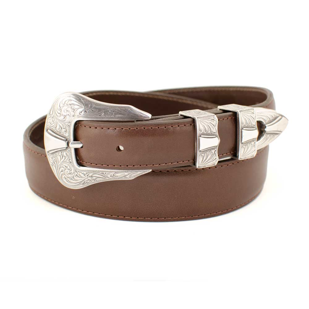 "1 1/4"" Calf Skin Belt MEN - Accessories - Belts & Suspenders CHACON LEATHER Teskeys"
