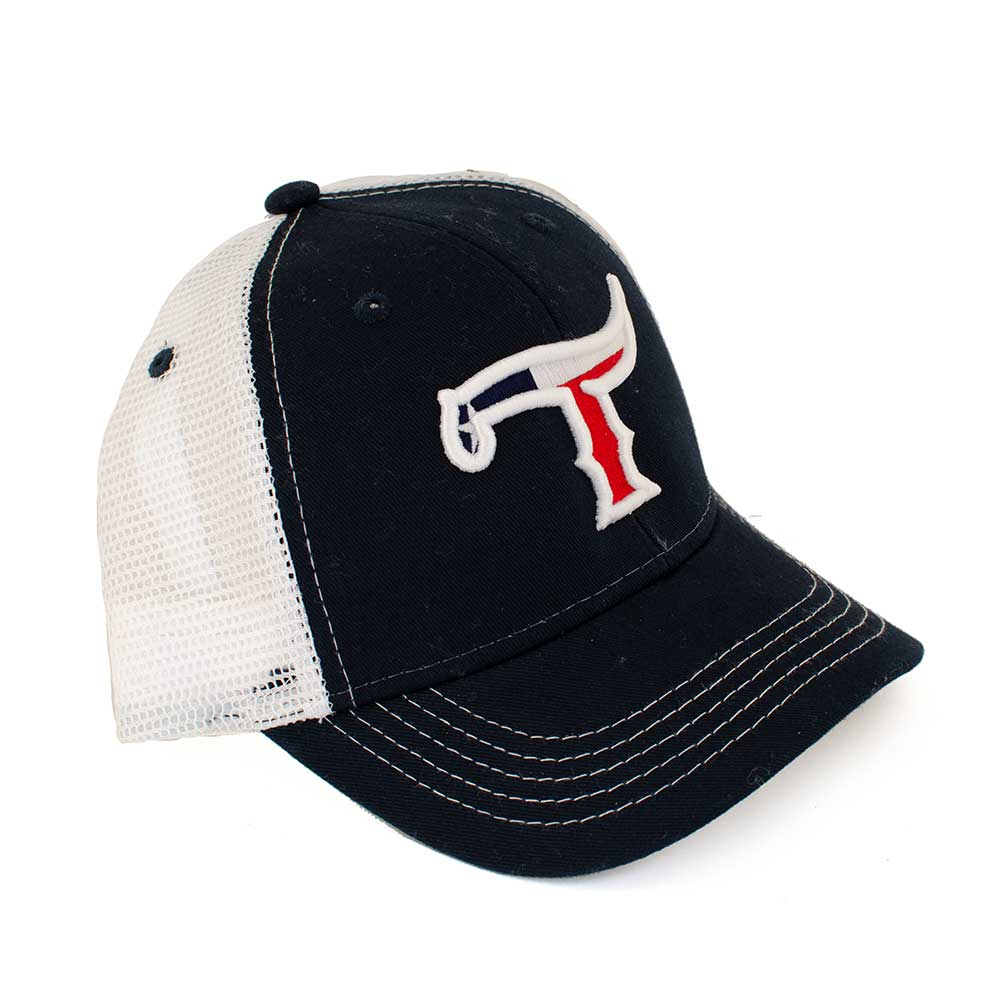 Teskey's T Logo Youth Texas Flag Cap TESKEY'S GEAR - Youth Baseball Caps OURAY SPORTSWEAR Teskeys
