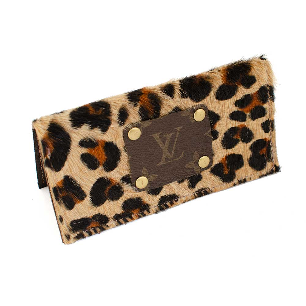 LV Leopard Check Book Holder