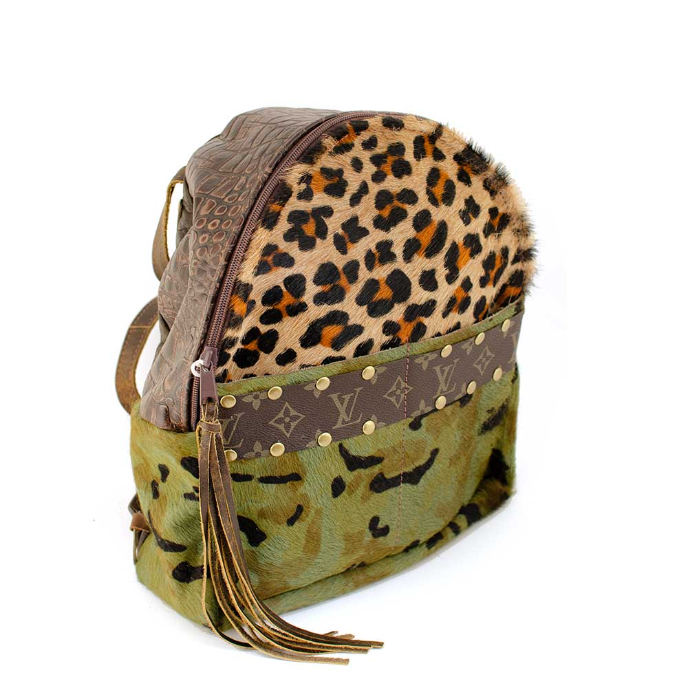 LV Small Camo & Leopard Backpack