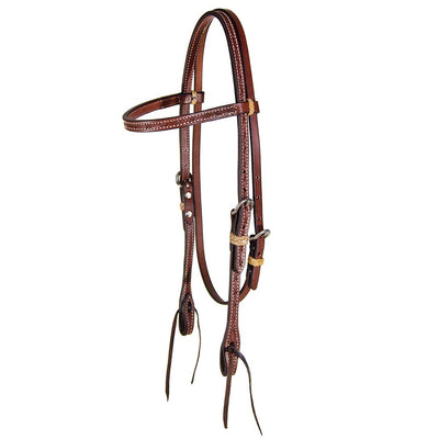 Teskey's Barbwire Browband Headstall Tack - Headstalls - Browband Teskey's Teskeys