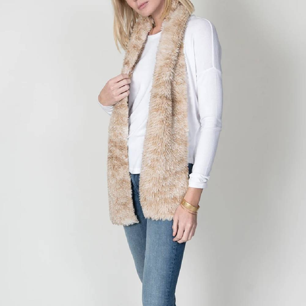 Dylan Knitted Fur Scarf- ACCESSORIES - Additional Accessories - Wild Rags & Scarves DYLAN Teskeys