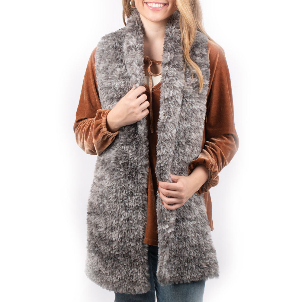 Dylan Knitted Fur Scarf ACCESSORIES - Additional Accessories - Wild Rags & Scarves DYLAN Teskeys