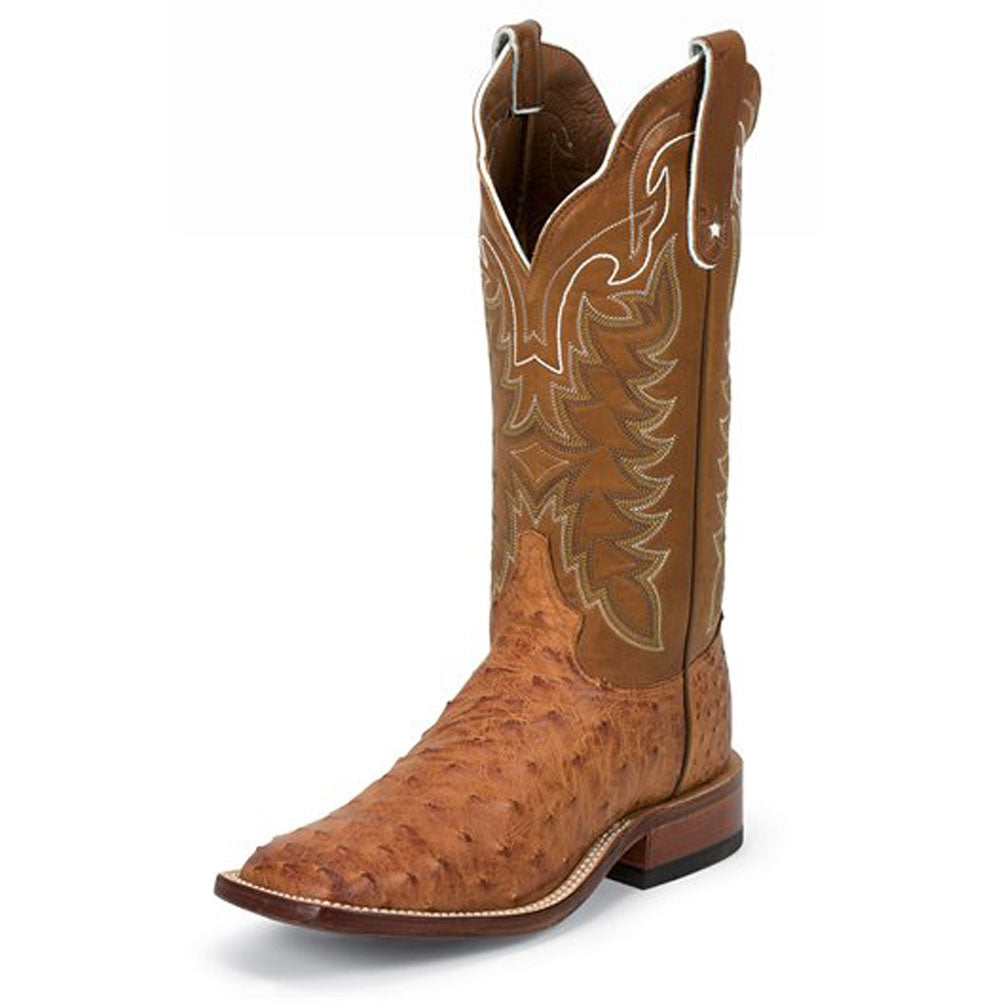 Tony Lama Hays Cognac FQ Ostrich Boot MEN - Footwear - Exotic Western Boots TONY LAMA BOOTS Teskeys