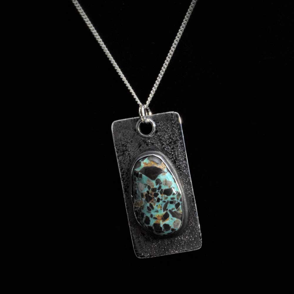 Comstock Heritage Carico Lake Turquoise Dog Tag Necklace WOMEN - Accessories - Jewelry - Necklaces COMSTOCK HERITAGE Teskeys