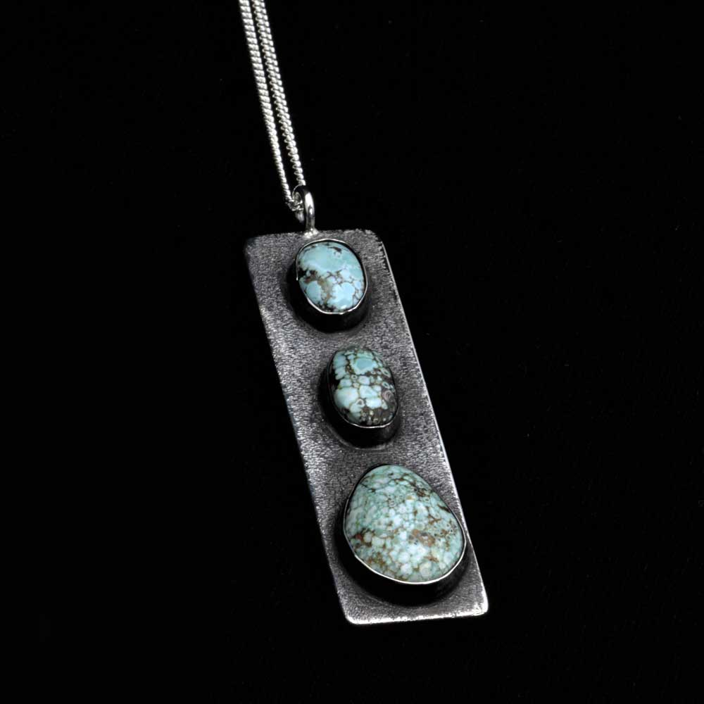 Comstock Heritage Carico Lake 3 Stone Turquoise Pendant Necklace WOMEN - Accessories - Jewelry - Necklaces COMSTOCK HERITAGE Teskeys