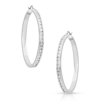 Montana Silversmiths Star Light Lined Hoop Earrings WOMEN - Accessories - Jewelry - Earrings Montana Silversmiths Teskeys