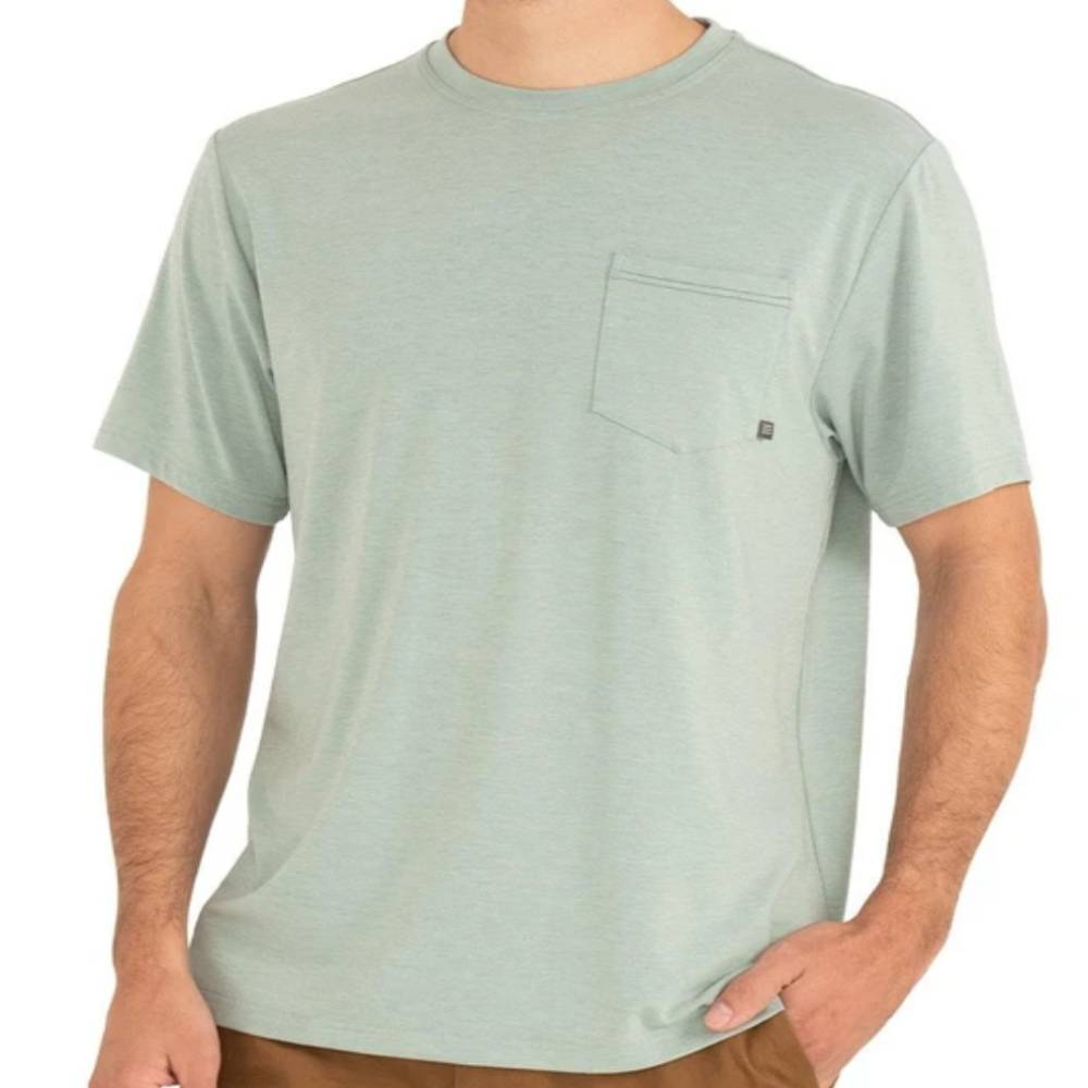 Mens Free Fly Flex Pocket Tee MEN - Clothing - T-Shirts & Tanks FREE FLY APPAREL Teskeys