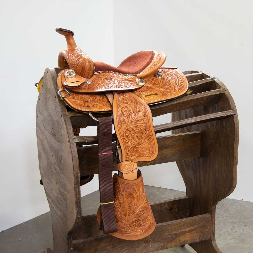 """The Jake"" 10"" Pony Saddle Saddles Silver Royal Teskeys"