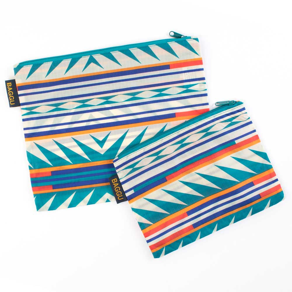 Pendleton Turquoise Ridge 2 Pack Zip Pouch WOMEN - Accessories - Handbags - Clutches & Pouches PENDLETON Teskeys