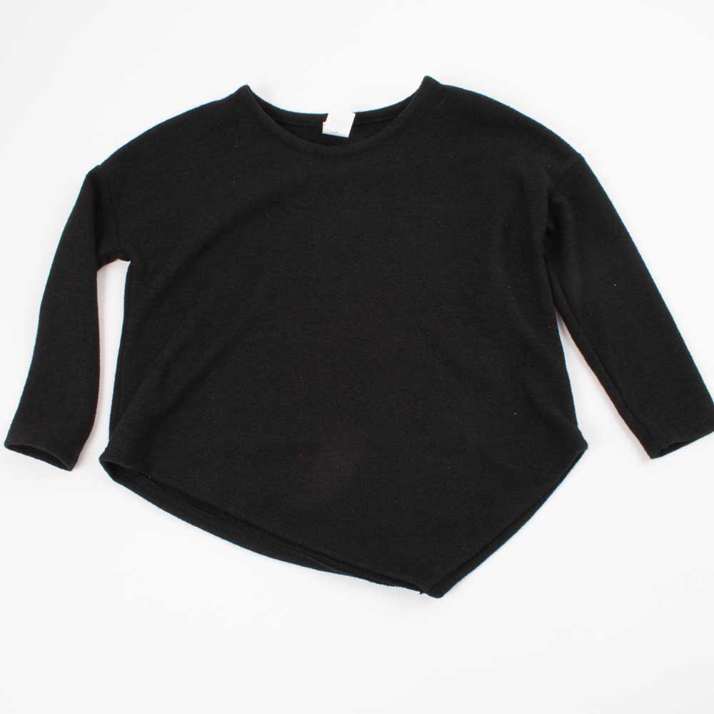 Girl's Black Asymmetrical Sweater KIDS - Girls - Clothing - Sweaters & Cardigans GTOG Teskeys