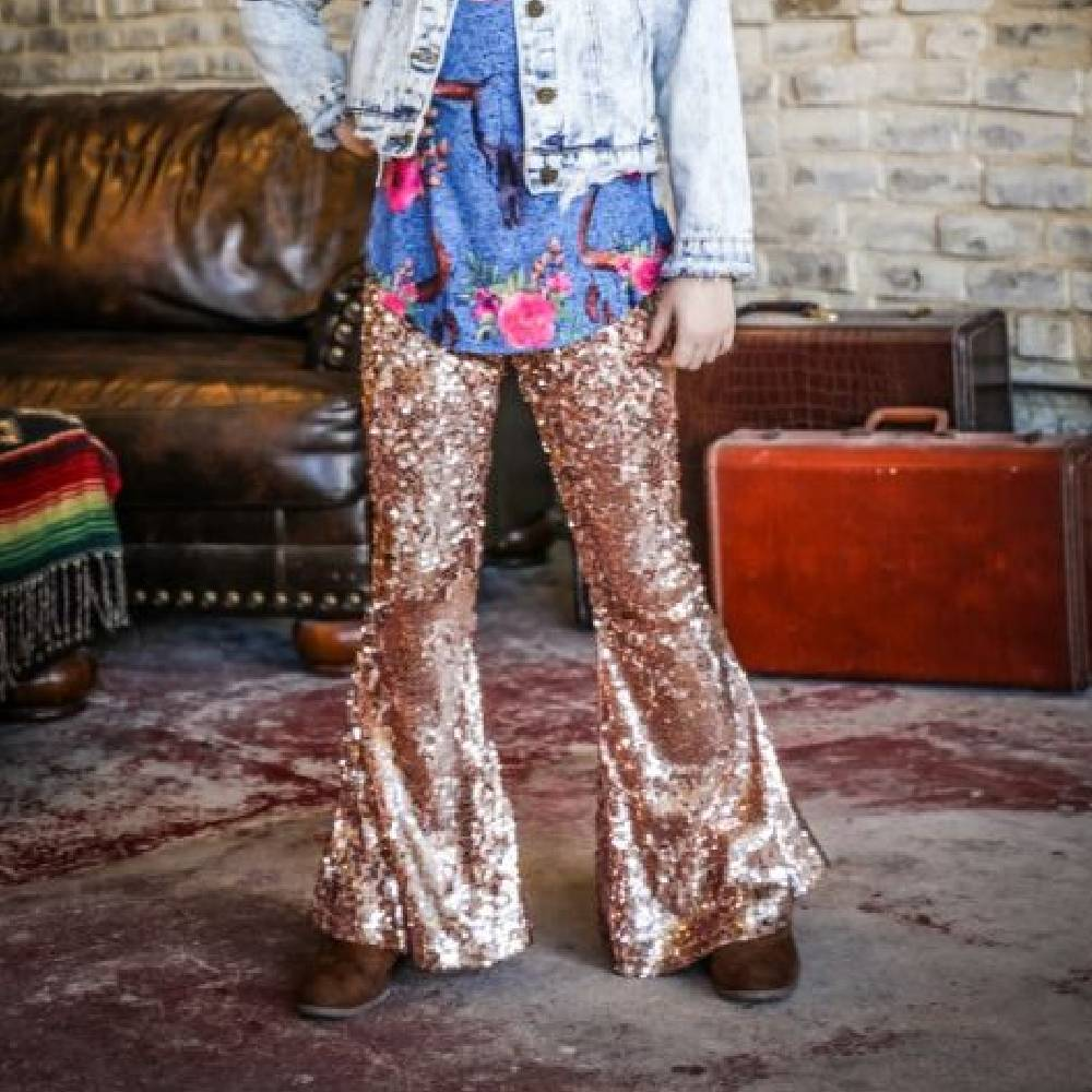 Girls Sequin Flare Pants KIDS - Girls - Clothing - Pants LUCKY & BLESSED Teskeys