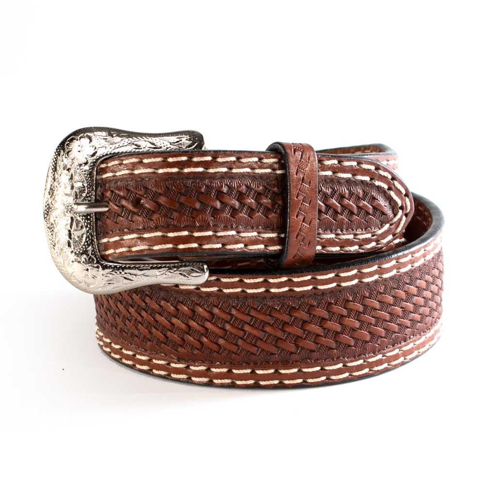 Ranger Belt Co. Tapered Leather Double Stitch Belt MEN - Accessories - Belts & Suspenders WESTERN FASHION ACCESSORIES Teskeys