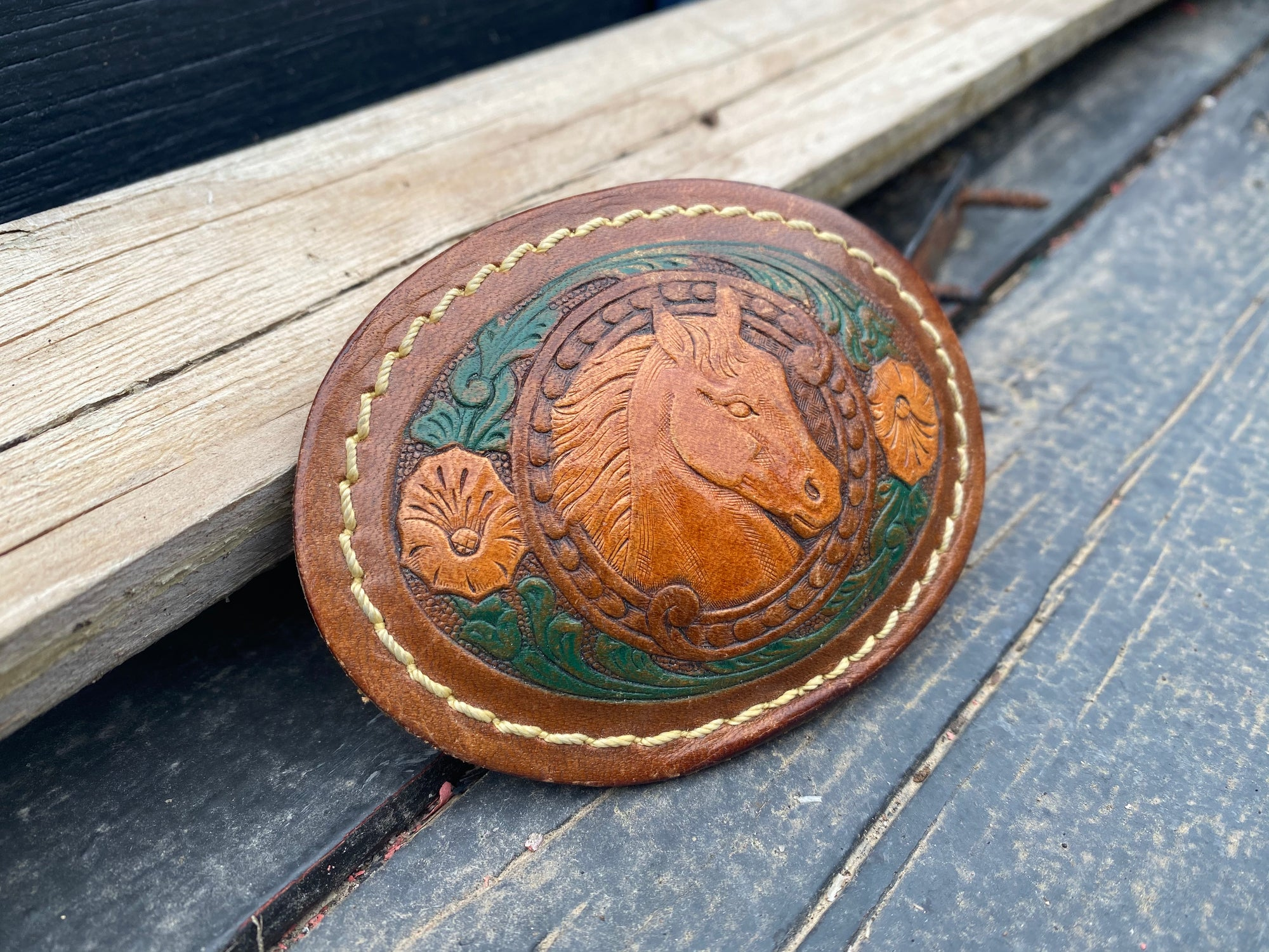 Vintage Derby Tooled Buckle ACCESSORIES - Additional Accessories - Buckles Relic Vintage Collection Teskeys