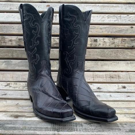 Lucchese Giant Gator Boots 9.5D MEN - Footwear - Exotic Western Boots LUCCHESE BOOT CO. Teskeys