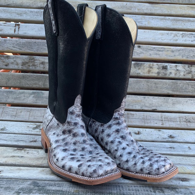 Anderson Bean Full Quill Ostrich Boot Size 10EE MEN - Footwear - Exotic Western Boots ANDERSON BEAN BOOT CO. Teskeys