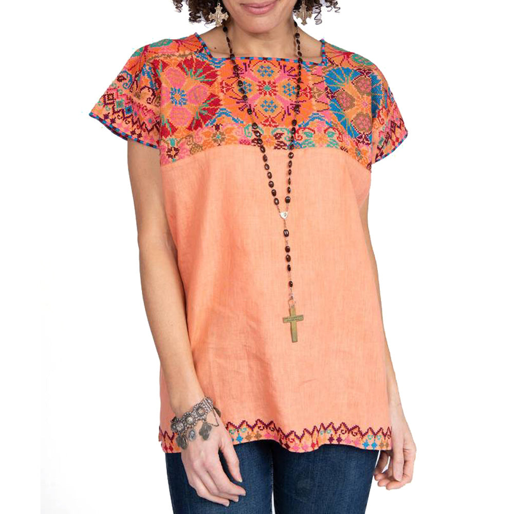 Ivy Jane Squared Neck Embroidery Top WOMEN - Clothing - Tops - Short Sleeved IVY JANE Teskeys